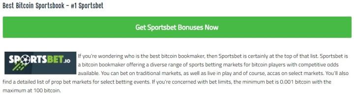 Sportsbet.io no bettingexpert.com