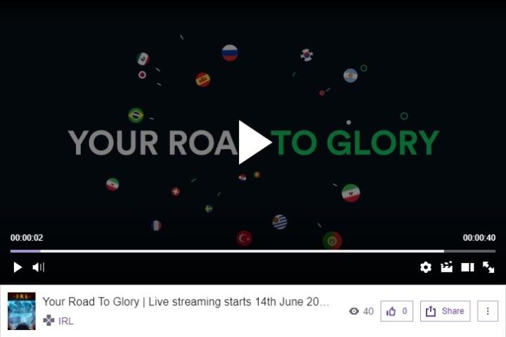 Programa na TwitchTV da Sportsbet.io